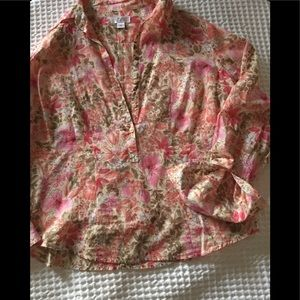 AT LOFT Floral Blouse L